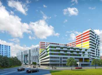 Три жилых корпуса и отель с апартаментами